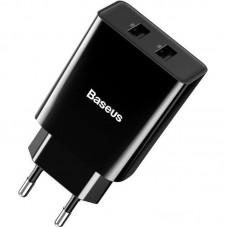 Адаптер сетевой Baseus Speed Mini 2USB 2.1A 10.5W (CCFS-R01) Black