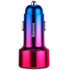 Адаптер автомобильный 1USB Type-C Baseus Magic Display QC 45W 6A (CCMLC2OC-09) Red