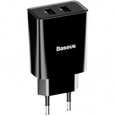 СЗУ Baseus Speed Mini 2USB 2.1A 10.5W + Cable USB-Lightning (TZCCFS-R01) Black
