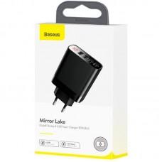 Адаптер сетевой Baseus Mirror Lake Display 4USB 2.4A 30W (CCJMHB-B01) Black