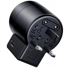 Адаптер сетевой 2USB Baseus Rotation Type Universal 2.4A (ACCHZ-01) Black