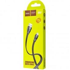 Кабель USB-Lightning Hoco U57 Twisting 1.2m Black