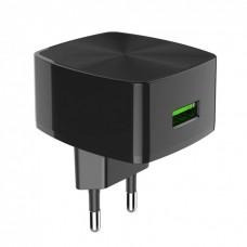 Зарядное устройство сетевое Hoco C70A QC 3.0 1USB 3A + сable MicroUSB Black