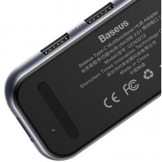 USB HUB Baseus Multi-Functional Type-C Male 4USB 2.0 (CAHUB-JZ0G) Black