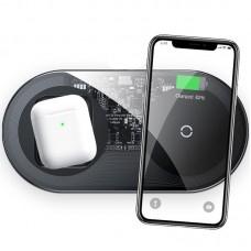 БЗУ Baseus Simple 2 в 1 (Phone + Watch) 24W QC 3.0 Turbo Edition (TZWXJK-B01) Black