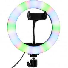 Лампа кольцевая LED SK Multicolor 20см MJ20 RGB Black