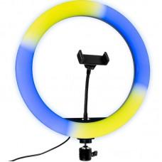 Лампа кольцевая LED SK Multicolor 33см MJ33 RGB Black