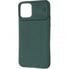 Чехол накладка TPU SK Carbon Camera Air для iPhone 12 Mini Green
