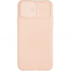 Чехол накладка TPU SK Carbon Camera Air для iPhone 12 Mini Pink