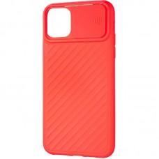 Чехол накладка TPU SK Carbon Camera Air для iPhone 12 Mini Red