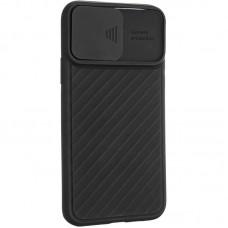 Чехол накладка TPU SK Carbon Camera Air для iPhone 12 Pro Max Black
