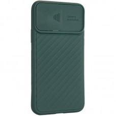 Чехол накладка TPU SK Carbon Camera Air для iPhone 12 Pro Max Green