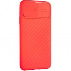 Чехол накладка TPU SK Carbon Camera Air для iPhone 12 Pro Max Red