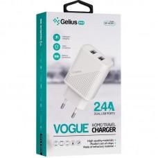Адаптер сетевой 2USB Gelius Pro Vogue GP-HC011 2.4A White