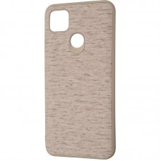 Чехол накладка TPU Gelius Canvas для Xiaomi Redmi 9c Beige