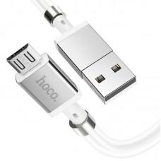 Кабель USB-MicroUSB Hoco U91 Magic Magnetic 1m 2.4A White