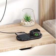 Беспроводное зарядное устройство 2 в 1 Baseus Planet 10W QC + Cable USB-Type-C 1m (WXPL-B01) Black
