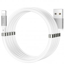 Кабель USB-Lightning Hoco U91 Magic Magnetic 1m 2.4A White