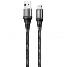 Кабель USB-Lightning Hoco X50 Excellent 2.4A 1m Black