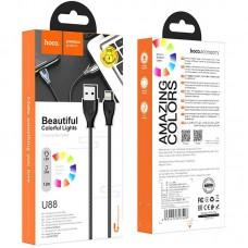 Кабель USB-Lightning Hoco U88 Amazing Colors 1.2m 3A Black