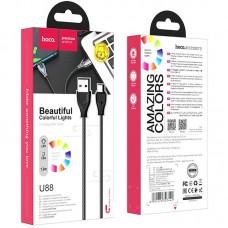 Кабель USB-Type-C Hoco U88 Amazing Colors 1.2m 3A Black