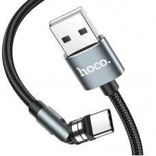 Кабель USB-Type-C Hoco U94 Universal Rotating Magnetic 2.4A 1.2m Black