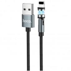Кабель USB-Lightning Hoco U94 Universal Rotating Magnetic 2.4A 1.2m Black