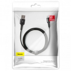 Кабель USB-Lightning Baseus Halo Data 2.4А 0.5m Black (CALGH-A01)