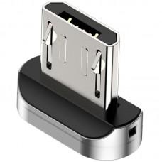 Адаптер MicroUSB Magnetic Baseus Zinc Silver (CAMXC-E)