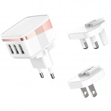 Адаптер сетевой 3USB Hoco C83 Detachable pin 2.4A White