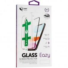 Защитное стекло Krazi Eazy EZFT01 Full Glue + Installation frame для iPhone 12 12 Pro Black