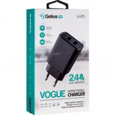 СЗУ Gelius Pro Vogue GP-HC011 2USB 2.4A + Cable USB-MicroUSB Black
