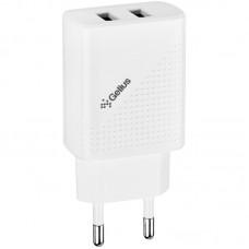 СЗУ Gelius Pro Vogue GP-HC011 2USB 2.4A + Cable USB-MicroUSB White