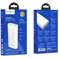 УМБ Power Bank Hoco J61 Companion 2USB Type-C PD QC3.0 18W 3A 10000mAh White