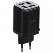 Адаптер сетевой Hoco C84A 4USB 3.4A Black