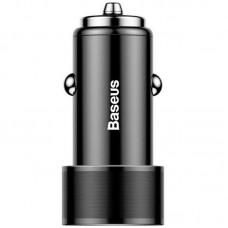 Адаптер автомобильный 2USB Baseus Small Screw 3.4A (CAXLD-C01) Black