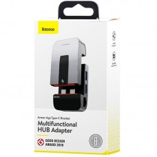 USB HUB Baseus Multi-Functional Armor Age Type-C-HDMI-RJ45-USB-3.5мм 3USB 3.0 (CAHUB-AJ0G) Grey