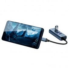 USB HUB Baseus Enjoy Type-C-RJ45-USB 3USB 3.0 (CAHUB-M0G) Grey
