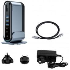 USB HUB Baseus Multifunctional Type-C-HDMI-RJ45-VGA-USB-DC-PD-PC 17 Port (CAHUB-DG0G) Dark/Gray