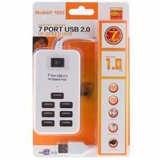 USB HUB USB-USB SK P-1602 7USB 2.0 White