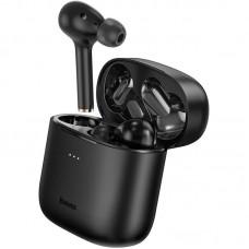 Наушники гарнитура вакуумные Bluetooth 5.0 Baseus W06 Black