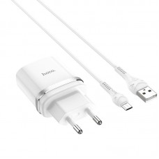 СЗУ 1USB Hoco C12Q QC 3.0 18W 3A + Cable USB-MicroUSB White