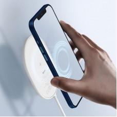 БЗУ Baseus Light Magnetic iPhone 12 Gen Wireless Type-C 1.5m 2A 15W (WXQJ-02) White