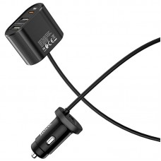 Адаптер автомобильный Hoco Z35 3USB PD3.0 18W 2.4А Black