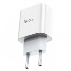 Адаптер сетевой 1Type-C Hoco C76A PD 20W 3A iPhone 12 White
