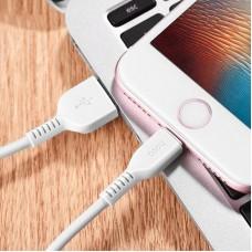 Кабель Hoco USB-Lightning X20 Flash Charged 2.4A 1m White