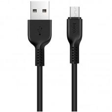 Кабель Hoco USB-MicroUSB X20 Flash Charged 2A 1m Black