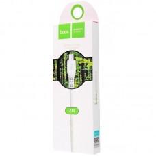 Кабель Hoco USB-MicroUSB X20 Flash Charged 2.4A 2m White