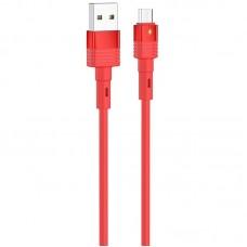 Кабель Hoco USB-MicroUSB U82 Cool Grace 2.4A 1.2 m Red