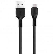 Кабель Hoco USB-Type-C X20 Flash Charged 2.4A 1m Black